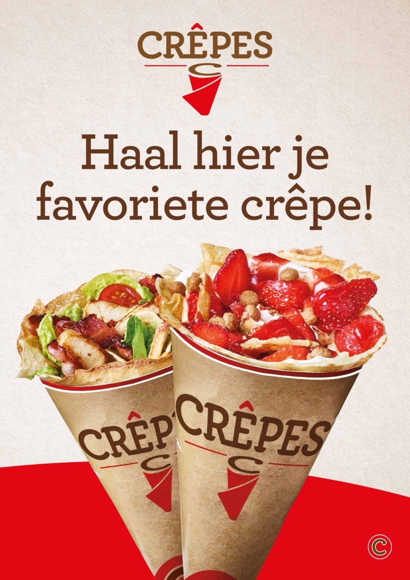 POS materiaal - Crepes poster